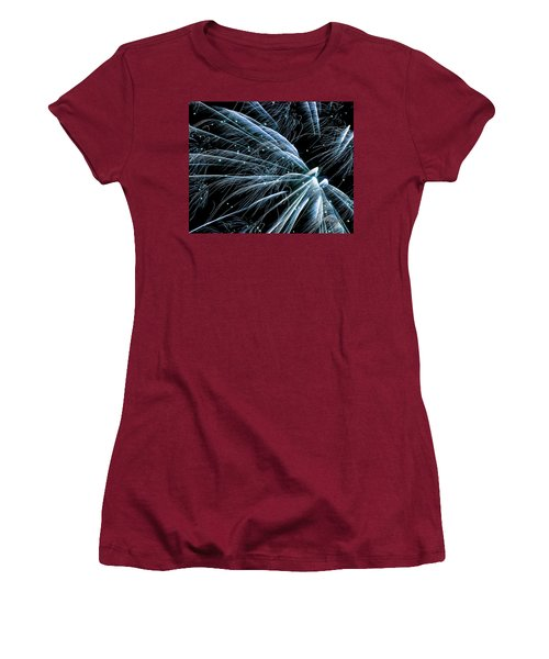 Blue Fairy Fireworks #0710_3 Women's T-Shirt (Athletic Fit)