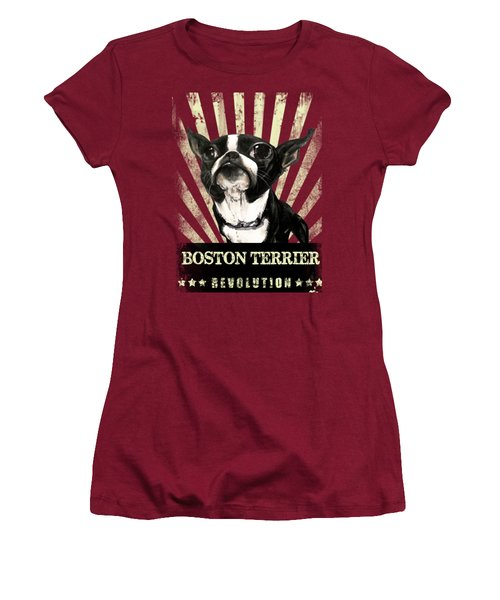 Boston Terrier Revolution Women's T-Shirt (Athletic Fit)