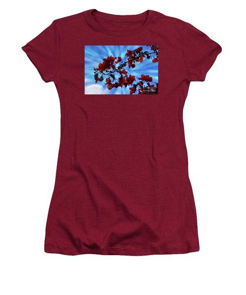 Bougainvillea At Joe's Secret Garden Iv Women's T-Shirt (Athletic Fit)