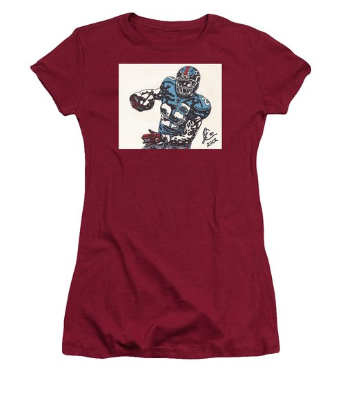 Brandon Jacobs 1 Women's T-Shirt (Junior Cut) by Jeremiah Colley