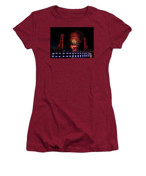 Women's T-Shirt (Junior Cut) featuring the photograph Bridge 13 In Welland by JT Lewis