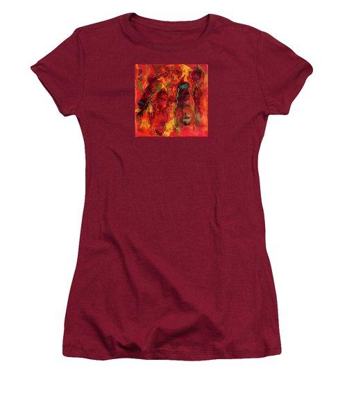 Broken Mask Encaustic Women's T-Shirt (Athletic Fit)