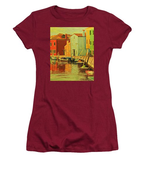 Burano, Italy - Study Women's T-Shirt (Athletic Fit)