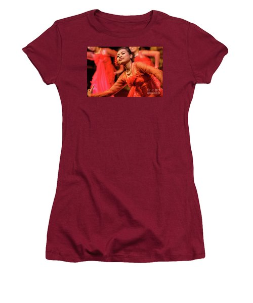 Burmese Dance 1 Women's T-Shirt (Athletic Fit)