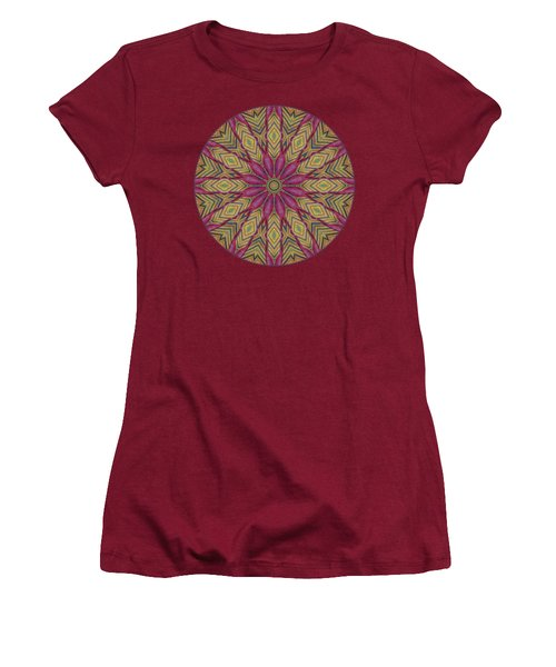 Women's T-Shirt (Junior Cut) featuring the photograph Canna Leaf - Mandala - Transparent by Nikolyn McDonald
