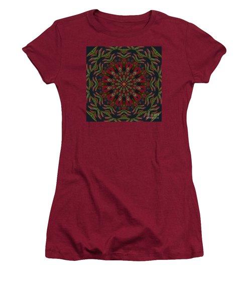 Cardinal Kaleidoscope Women's T-Shirt (Junior Cut) by Judy Wolinsky