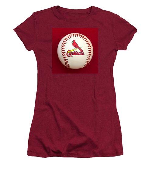 Cardinals Women's T-Shirt (Junior Cut) by Steve Stuller
