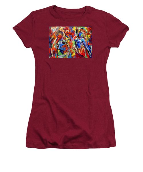 Carnival- Large Work Women's T-Shirt (Athletic Fit)