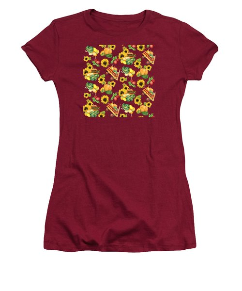 Celebrate Abundance Harvest Half Drop Repeat Women's T-Shirt (Athletic Fit)