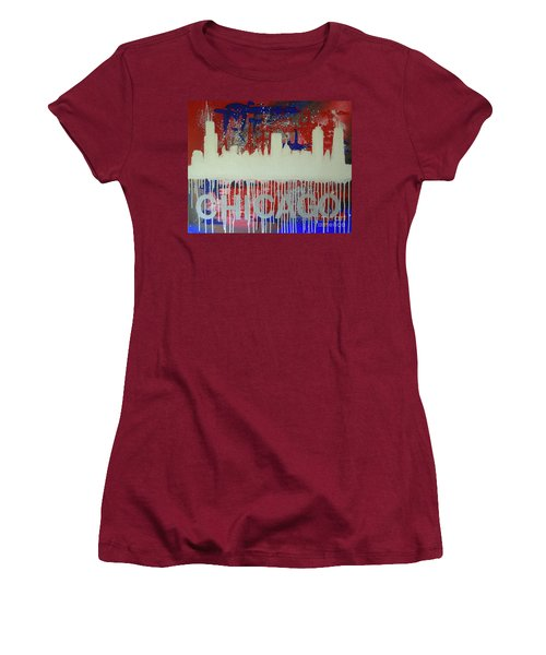 Chicago Drip Women's T-Shirt (Junior Cut) by Melissa Goodrich