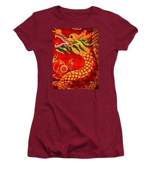 Chinese Dragon Women's T-Shirt (Athletic Fit)