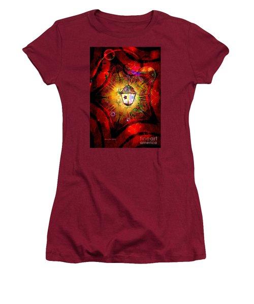 Christmas Lantern And Christmas Star Women's T-Shirt (Junior Cut) by Annie Zeno