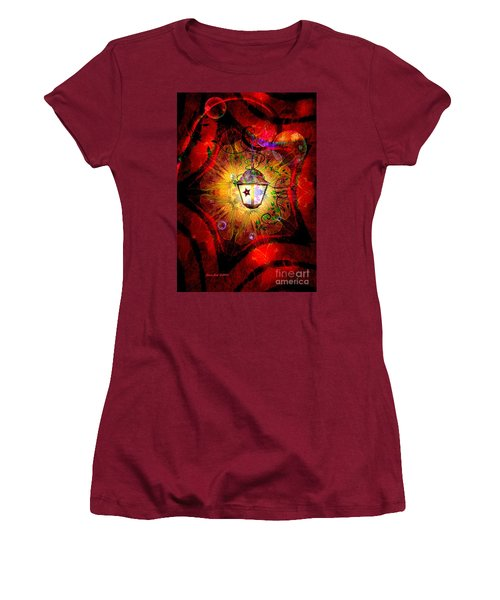 Christmas Lantern And Christmas Star Women's T-Shirt (Junior Cut)