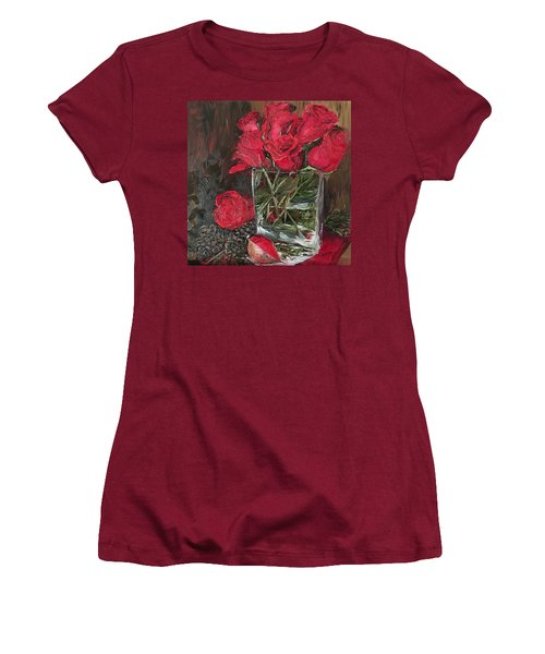 Christmas Roses Women's T-Shirt (Athletic Fit)