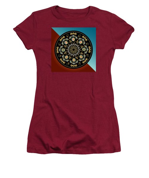 Circularium No 2640 Women's T-Shirt (Junior Cut) by Alan Bennington