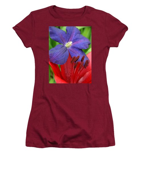 Clematis And Lily Women's T-Shirt (Junior Cut) by Rebecca Overton
