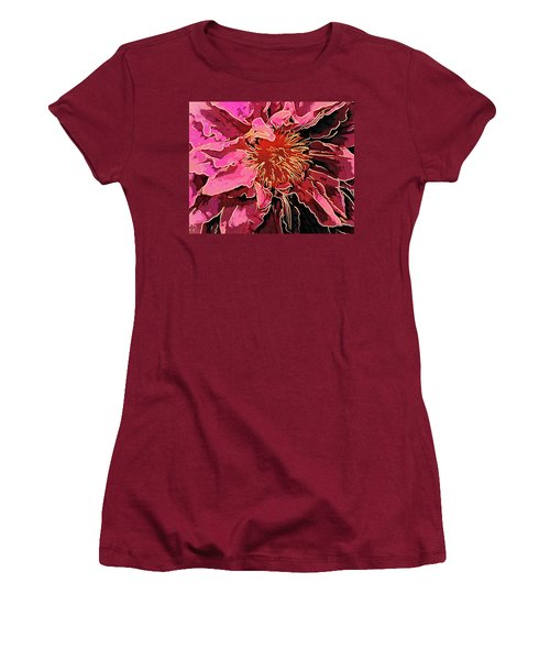 Clematis Up Close And Personal Women's T-Shirt (Athletic Fit)