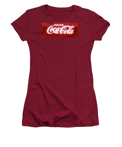 Coca Cola Women's T-Shirt (Athletic Fit)