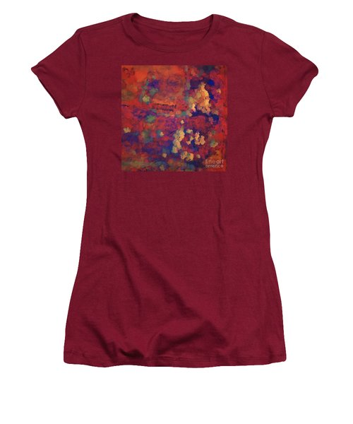 Color Abstraction Xxxv Women's T-Shirt (Athletic Fit)