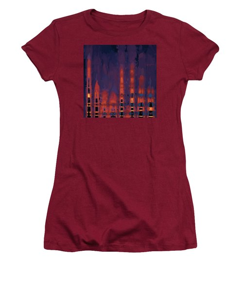 Color Abstraction Xxxviii Women's T-Shirt (Athletic Fit)
