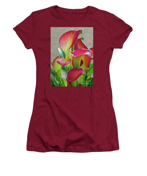 Colorful Calla Lillies Women's T-Shirt (Athletic Fit)