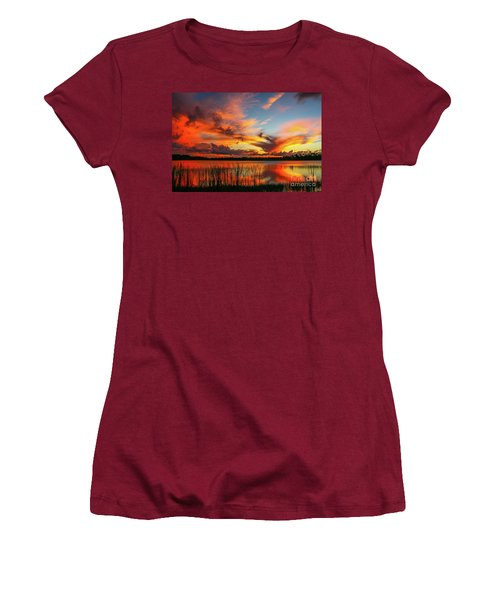 Colorful Fort Pierce Sunset Women's T-Shirt (Junior Cut) by Tom Claud