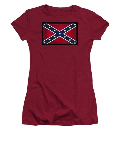 Confederate Rebel Battle Flag Women's T-Shirt (Athletic Fit)