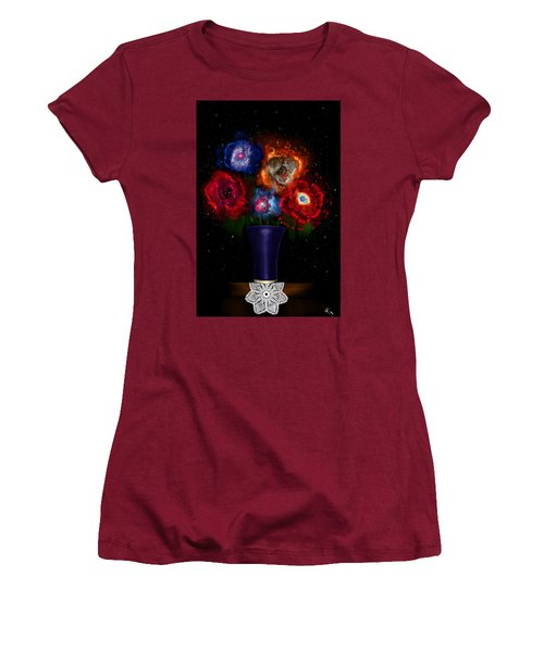 Cosmic Bouquet Women's T-Shirt (Athletic Fit)