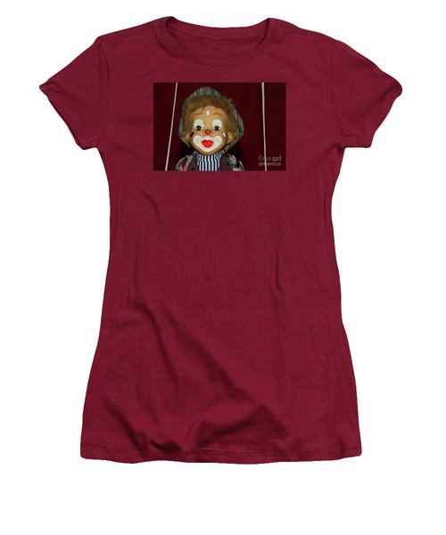 Women's T-Shirt (Athletic Fit) featuring the photograph Cute Little Clown By Kaye Menner by Kaye Menner