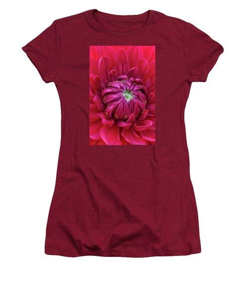 Dahlia Heart Women's T-Shirt (Athletic Fit)