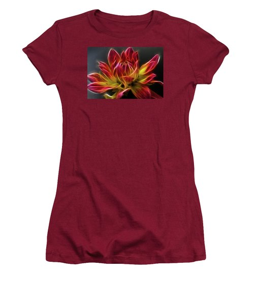 Dahlia Women's T-Shirt (Junior Cut) by Joann Copeland-Paul