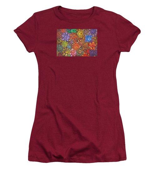 Decorative Flowers Women's T-Shirt (Junior Cut) by Rita Fetisov