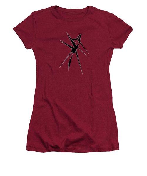 Deer Crossing Women's T-Shirt (Junior Cut) by Cathy Harper