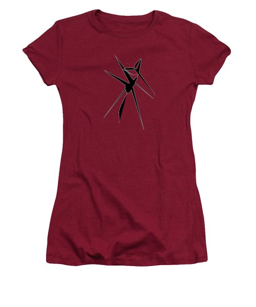 Deer Crossing Women's T-Shirt (Athletic Fit)