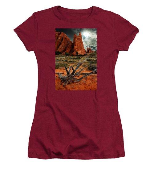 Women's T-Shirt (Junior Cut) featuring the photograph Desert Floor by Harry Spitz