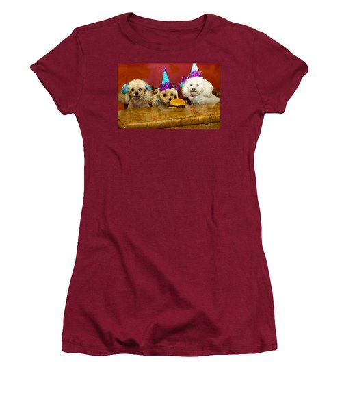 Dog Party Women's T-Shirt (Athletic Fit)