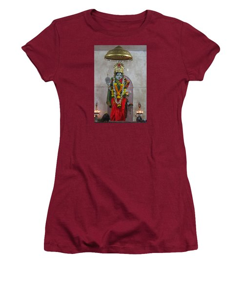 Downtown Ganeshpuri Durga Temple Women's T-Shirt (Athletic Fit)