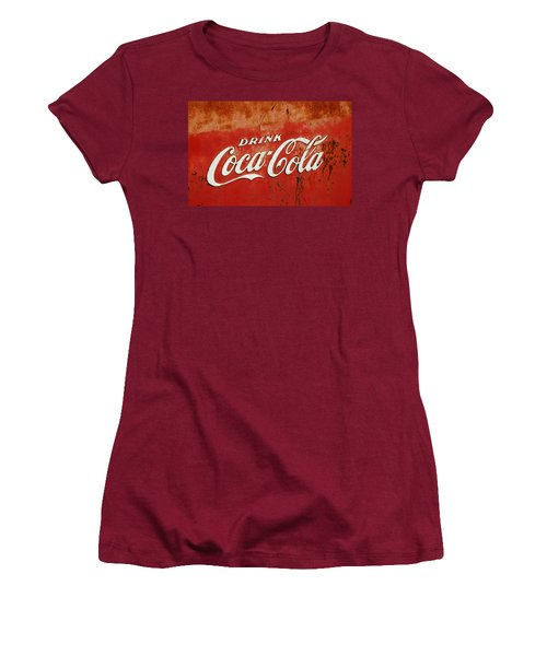 Drink Coca Cola  Women's T-Shirt (Junior Cut) by LeeAnn McLaneGoetz McLaneGoetzStudioLLCcom
