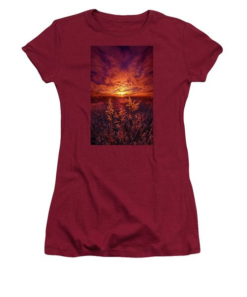 Women's T-Shirt (Junior Cut) featuring the photograph Every Sound Returns To Silence by Phil Koch