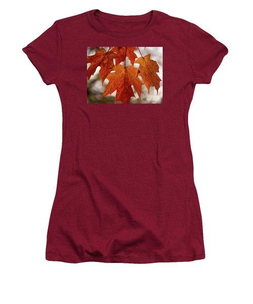 Fall Foliage Women's T-Shirt (Junior Cut) by Kimberly Mackowski