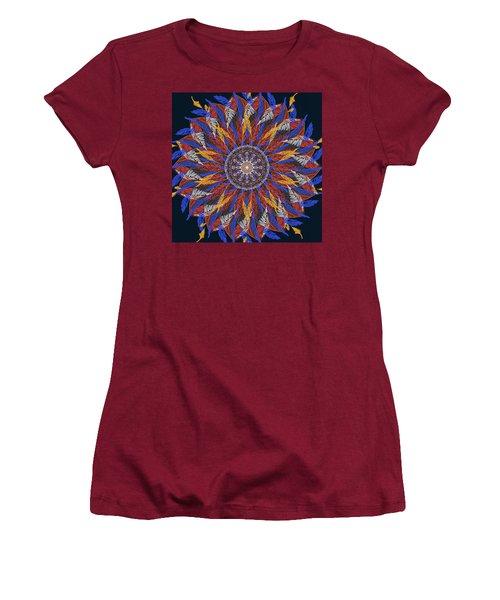 Feather Mandala Iv Women's T-Shirt (Athletic Fit)