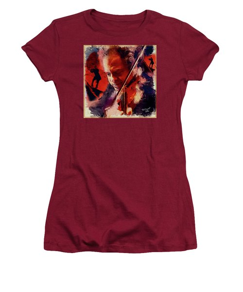 Fiddler Women's T-Shirt (Junior Cut) by Ted Azriel