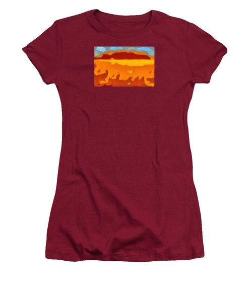 Fire Hill Women's T-Shirt (Junior Cut) by Spyder Webb