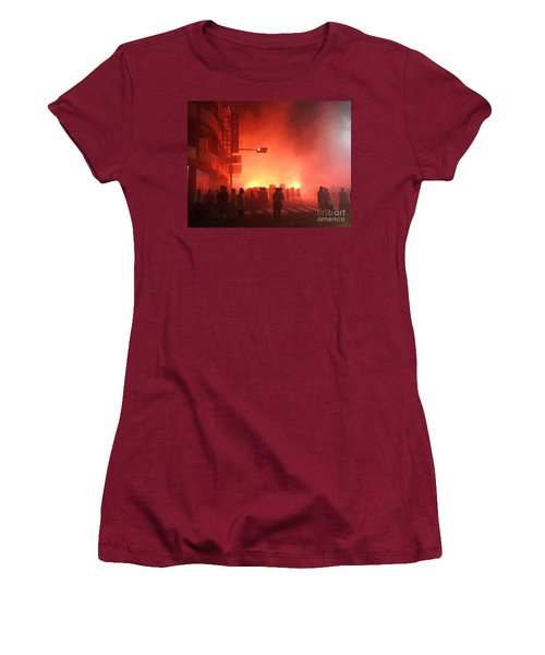 Fireworks During A Temple Procession Women's T-Shirt (Athletic Fit)