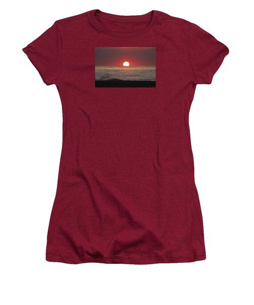 Women's T-Shirt (Junior Cut) featuring the photograph Fishing Boat Sunrise by Robert Banach