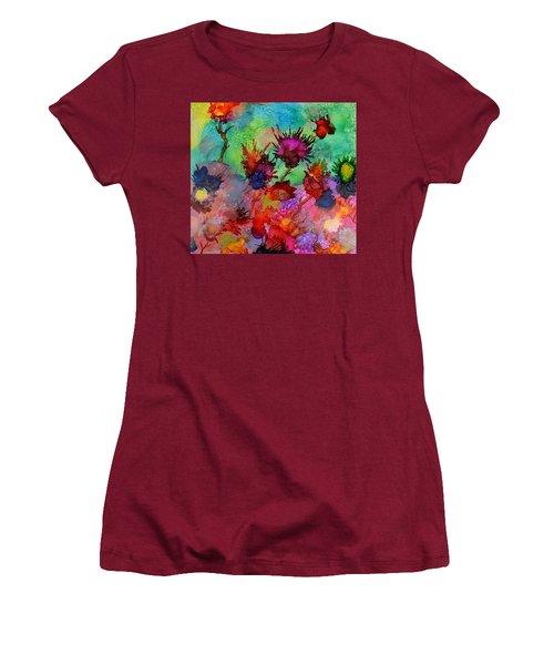 Flowers Blowin In The Wind Women's T-Shirt (Junior Cut) by Warren Thompson