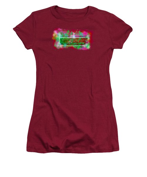 Forgive Brick Pink Tshirt Women's T-Shirt (Junior Cut) by Tamara Kulish