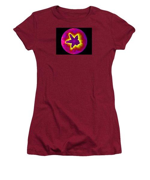 Fractal Pattern Inside A Sphere Women's T-Shirt (Athletic Fit)