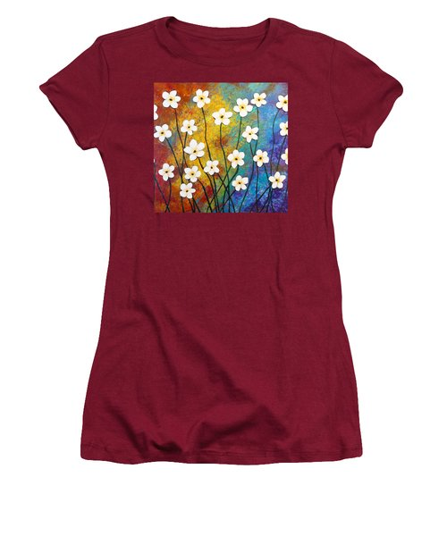 Frangipani Explosion Women's T-Shirt (Athletic Fit)