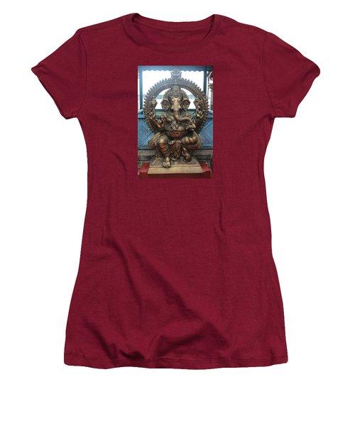 Ganapati Bronze Statue, Fort Kochi Women's T-Shirt (Junior Cut) by Jennifer Mazzucco